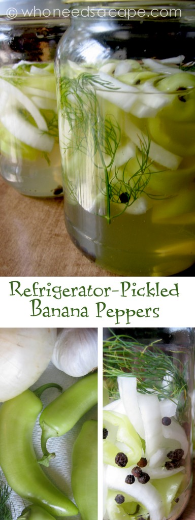 Refrigerator pickled banana peppers who needs a cape - How to can banana peppers from your garden ...