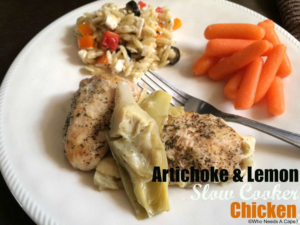 Need a dish that is family-friendly and easy? This Artichoke & Lemon Slow Cooker Chicken fits the bill perfectly! You can even make this a freezer meal!
