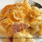 Baked Macaroni & Cheese with Ham