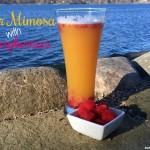 Beer Mimosa with Raspberries