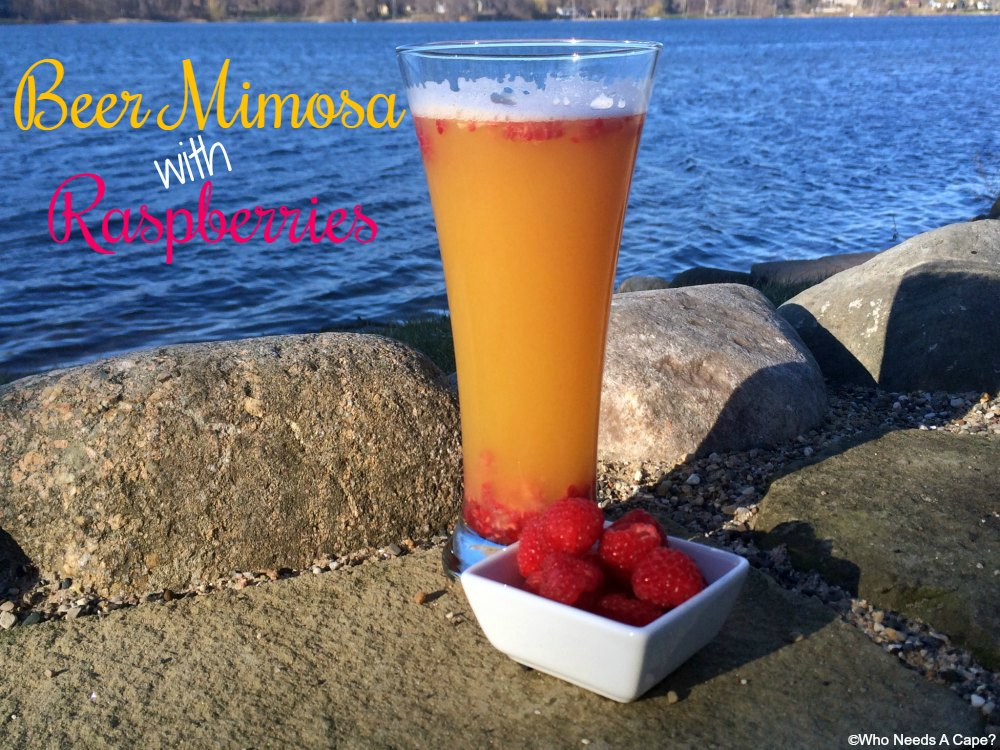 Perfect summertime sipper in the form of this Beer Mimosa with Raspberries. You'll be surprised at how well the flavors blend in this yummy beverage.