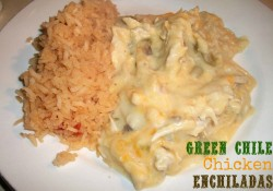 Green Chile Chicken Enchiladas | Who Needs A Cape?