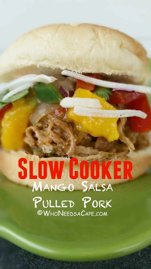 Another great slow cooker meal, Mango Salsa Pulled Pork, is an amazingly sweet and spicy meal your family will love! Great as a freezer meal too!