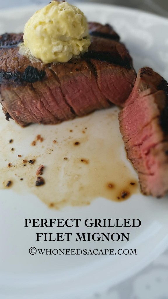 Perfect Grilled Filet Mignon is a tender cut of steak, that grills up fast in less than 10 minutes. Great for that summer barbecue or get together!