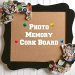 DIY Graduation Gift Photo Memory Corkboard