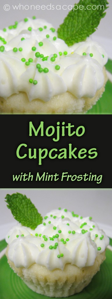You've tried the tasty mojito highball drink made with rum, muddled mint leaves, sugar and lime — now try it as a cupcake.