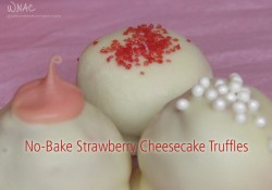 No-Bake Strawberry Cheesecake Truffles