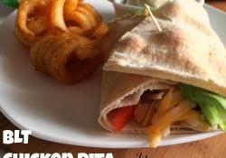 BLT Chicken Pita with Avocado Ranch