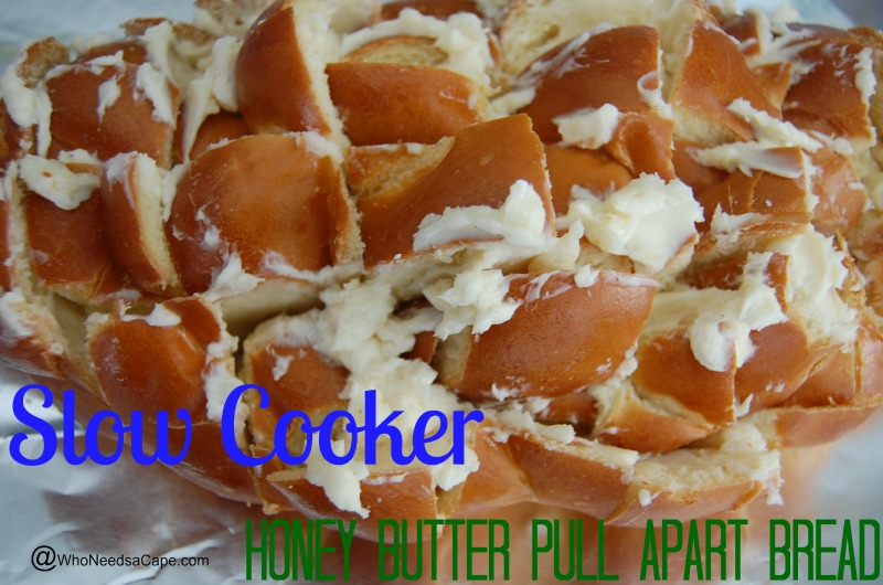 Slow Cooker Honey Butter Pull Apart Bread
