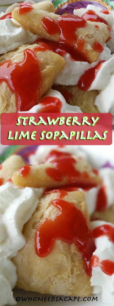 If you love sopapillas like I do, you will love this twist with these Strawberry Lime Sopapillas. Great dessert for Cinco de Mayo!