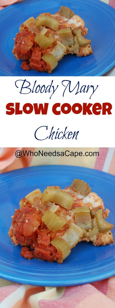 Slow Cooker Bloody Mary Chicken collage