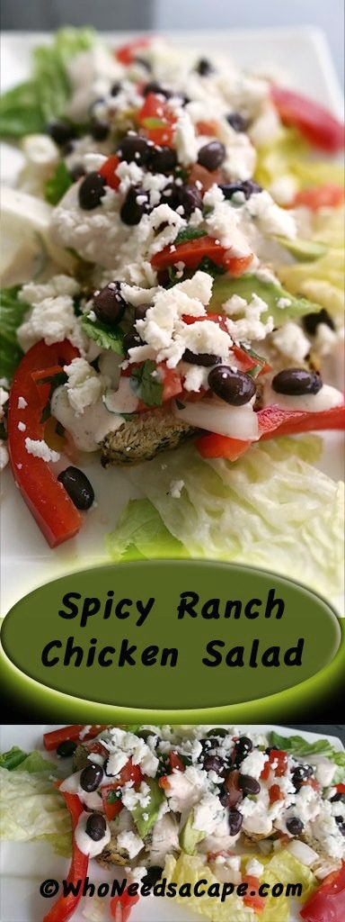 Spicy Ranch Chicken Salad is an easy meal to throw together that the family will love. Made with fresh seasonal ingredients and a spicy yogurt dressing.