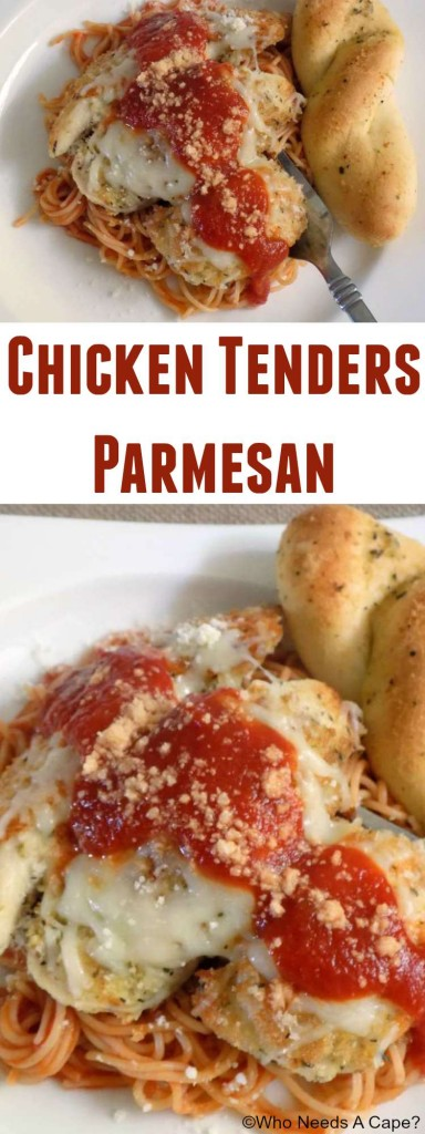 Chicken Tenders Parmesan is an easy dinner that the entire family will love. Easy enough for weeknights, your family will love this meal.