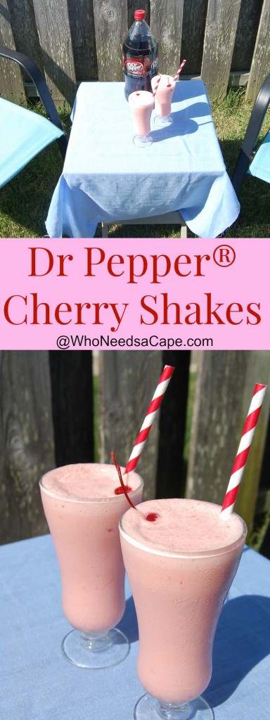 Dr Pepper® Cherry Shakes are such a yummy dessert! Perfect summertime drink on a hot afternoon! Easy to make, you'll love this treat!