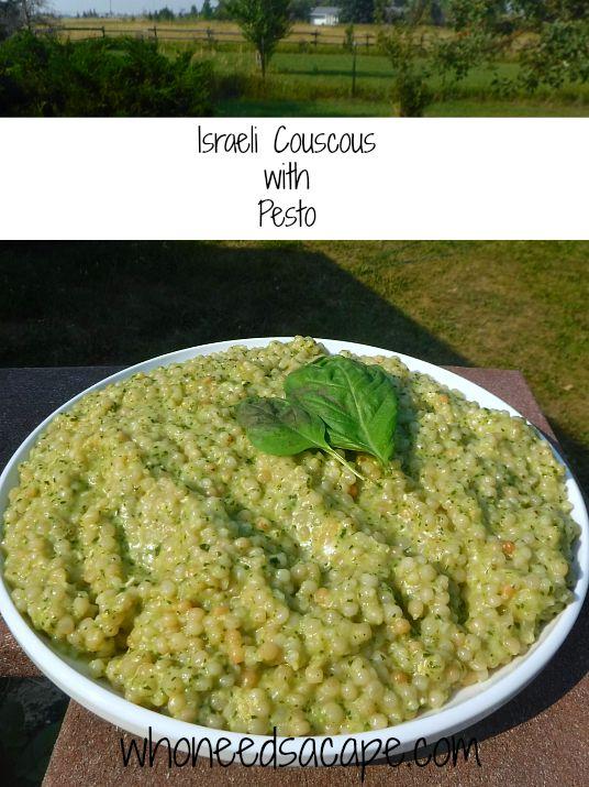 Israeli Couscous with Pesto