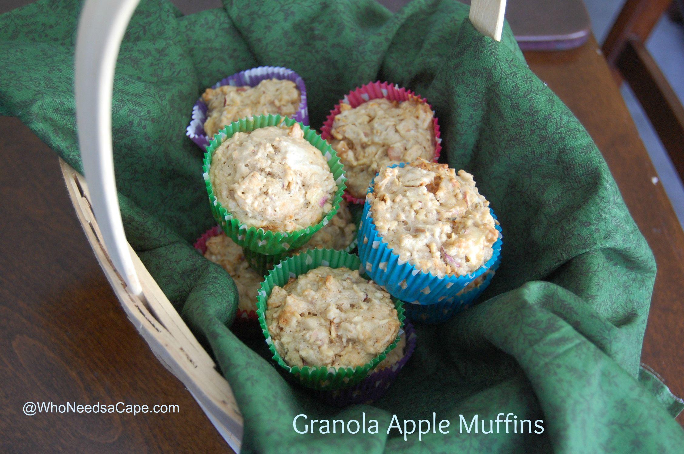 Granola Apple Muffins