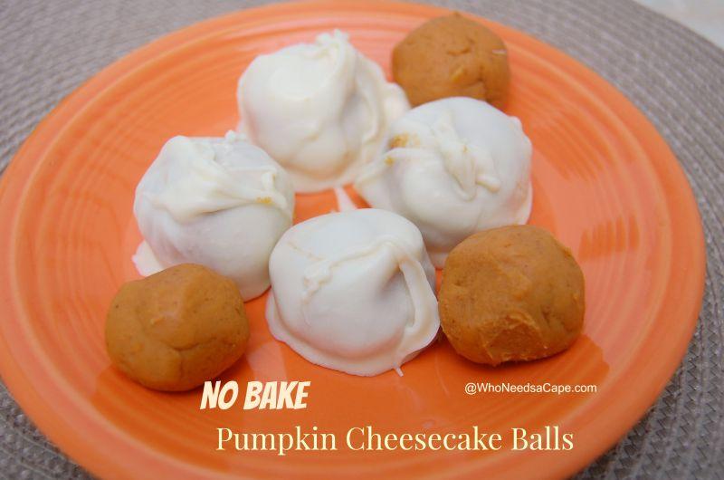 No Bake Pumpkin Cheesecake Balls