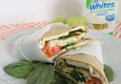 Make Spinach & Feta Wraps, a light and lovely lunch or dinner using AllWhites Egg White product. Loaded with delicious flavors yet low-calorie.