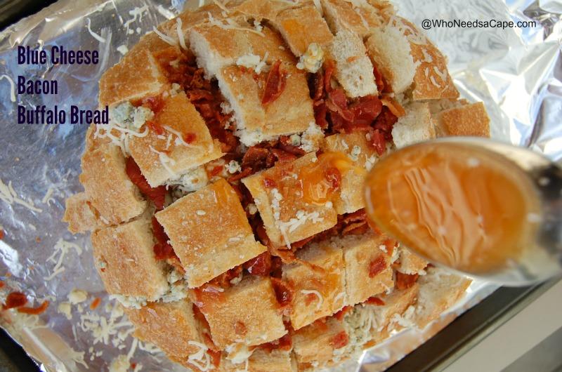 Blue Cheese Bacon Buffalo Bread