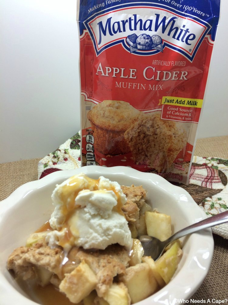 Whip up this super easy Chunky Caramel Apple Cobbler and have dessert in no time. With less than 5 ingredients this is not only simple but delicious.