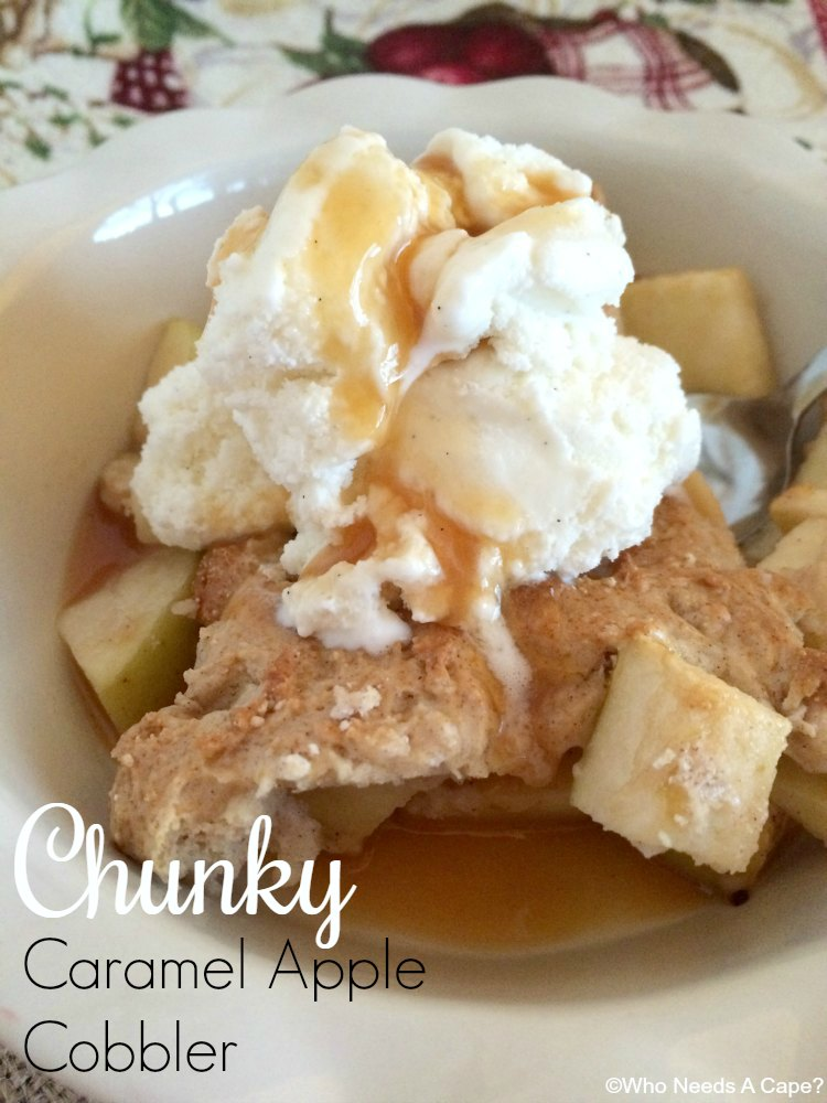 Chunky Caramel Apple Cobbler