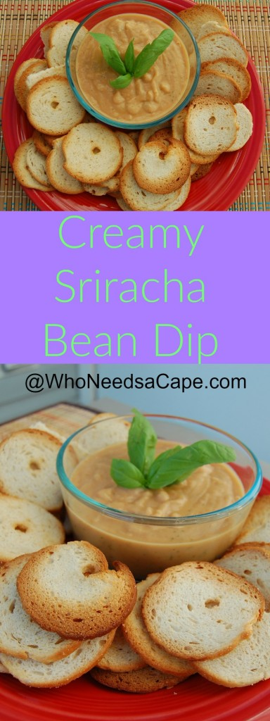 Getting ready to watch the big game and need something yummy? Try this Creamy Sriracha Bean Dip, packed full of flavor, perfect for crackers or veggies.