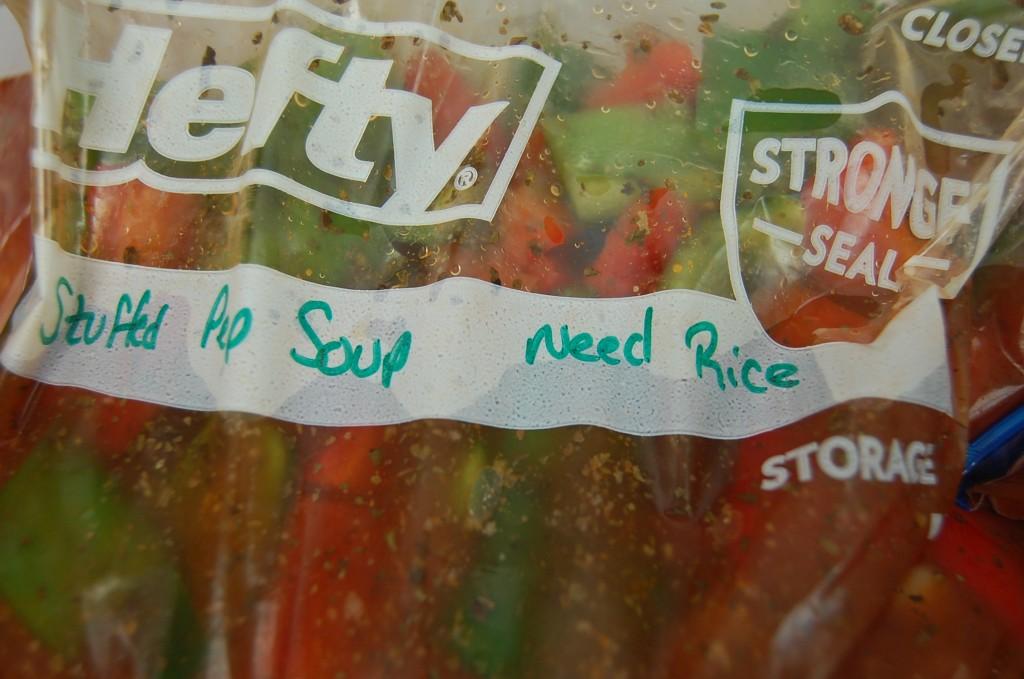 Write Remaining Ingredients on Freezer Bag