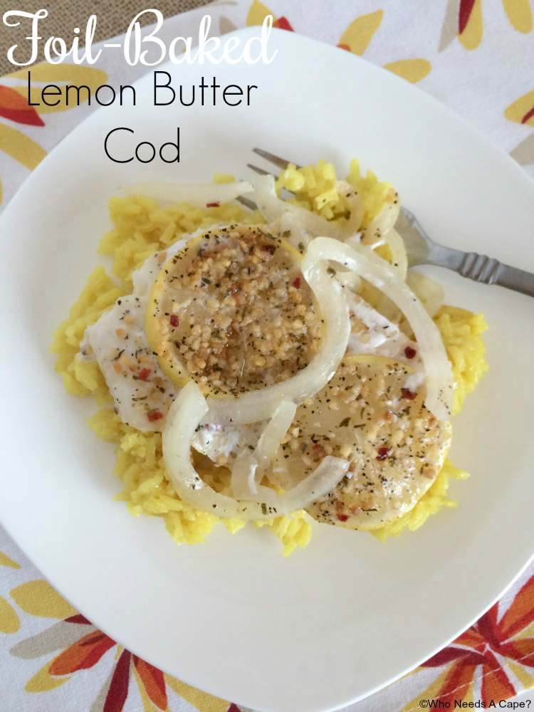 Foil-Baked Lemon Butter Cod