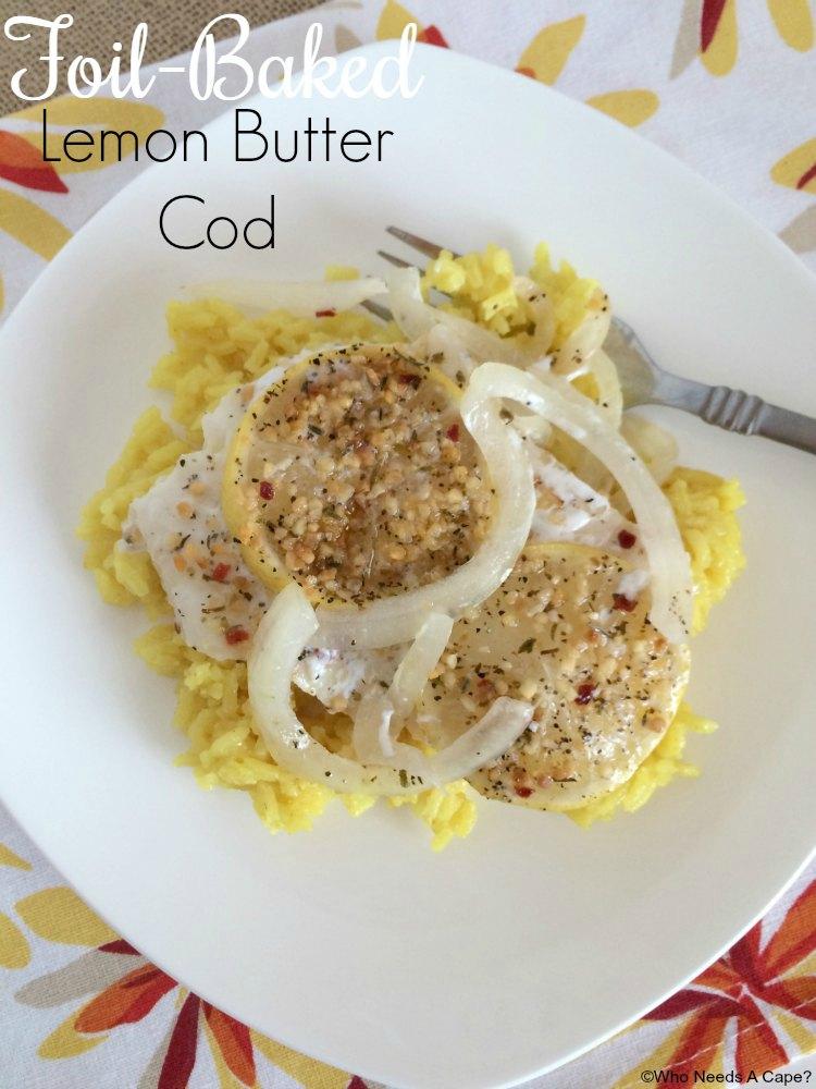 Foil-Baked Lemon Butter Cod