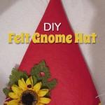 DIY Felt Gnome Hat
