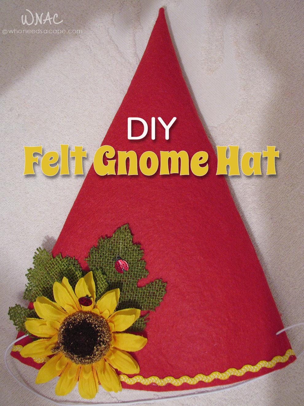 395bec65f1d DIY Felt Gnome Hat - Who Needs A Cape