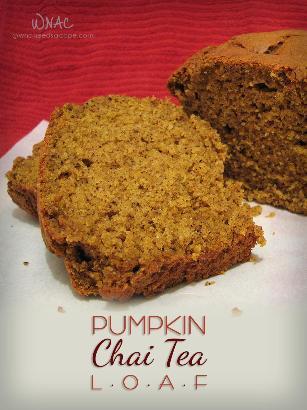 Pumpkin Chai Tea Loaf