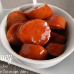 Saucy Slow Cooker Andouille Sausage Bites