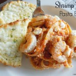 Shrimp Feta Pasta Bake