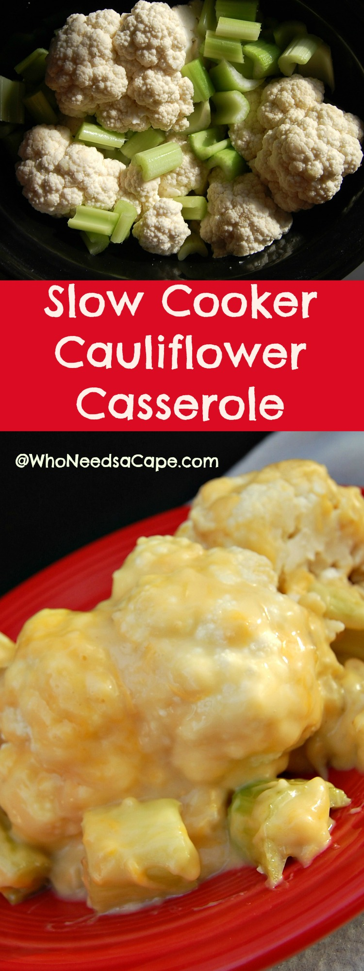 Slow Cooker Cauliflower Casserole is fantastic for a nice family or dinner holiday dinner. Easy, tasty & doesn't take oven space thanks to your crockpot.