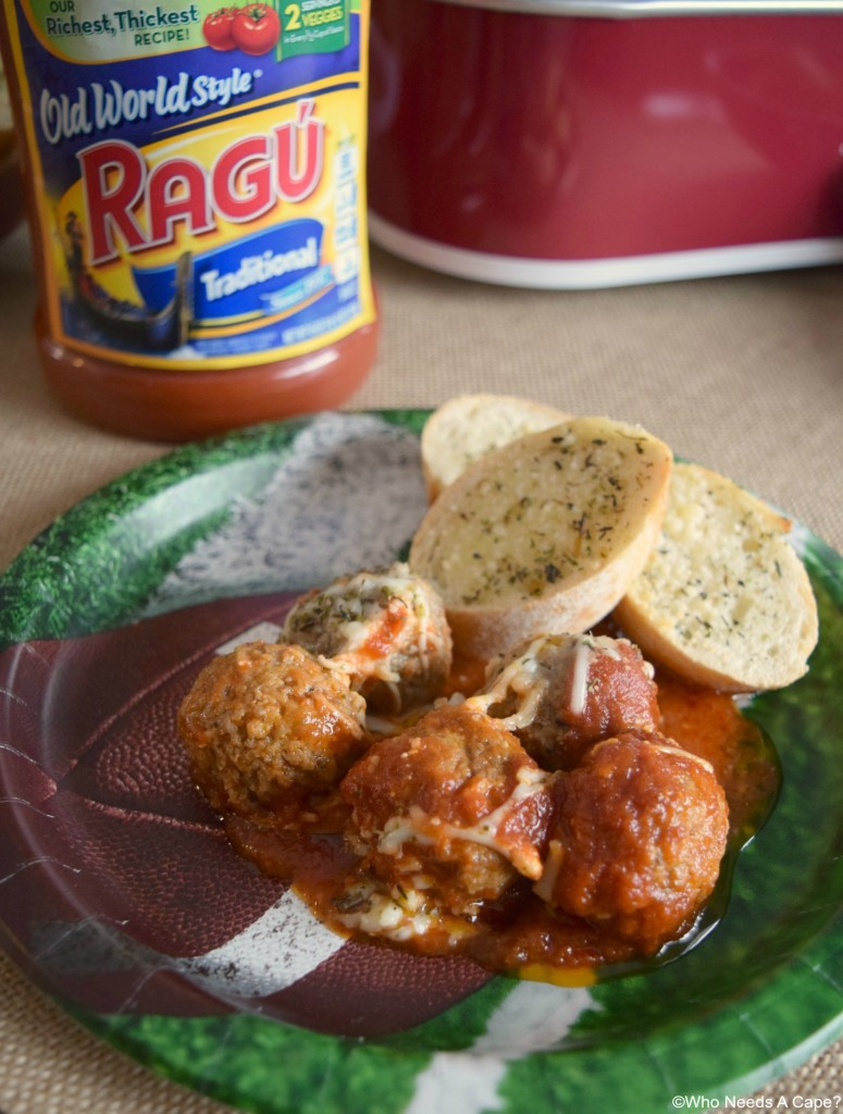 Slow Cooker Meatball Casserole is perfect for game day spreads! Hearty and easy to prepare, you'll love it!