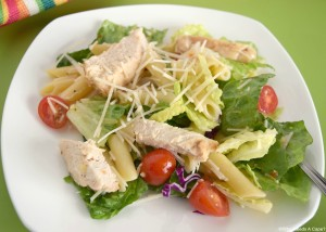 Dinner doesn't get much quicker than this Easy Grilled Chicken Pasta Salad. Tasty and on the table fast!