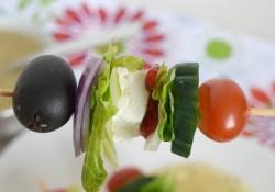 Deconstructed Greek Salad Sticks