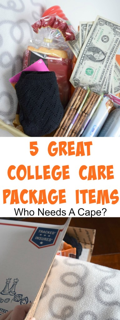 Next time you send a package to your kids at college add in these 5 Great College Care Package Items! Useful items they'll love receiving.