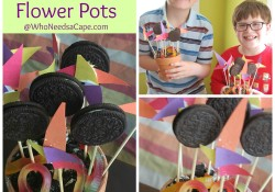 OREO Flower Pots are the perfect kid friendly craft-gift! Everyone gets an OREO and kid artwork! Fathers Day Gifts, Mothers Day Gifts.