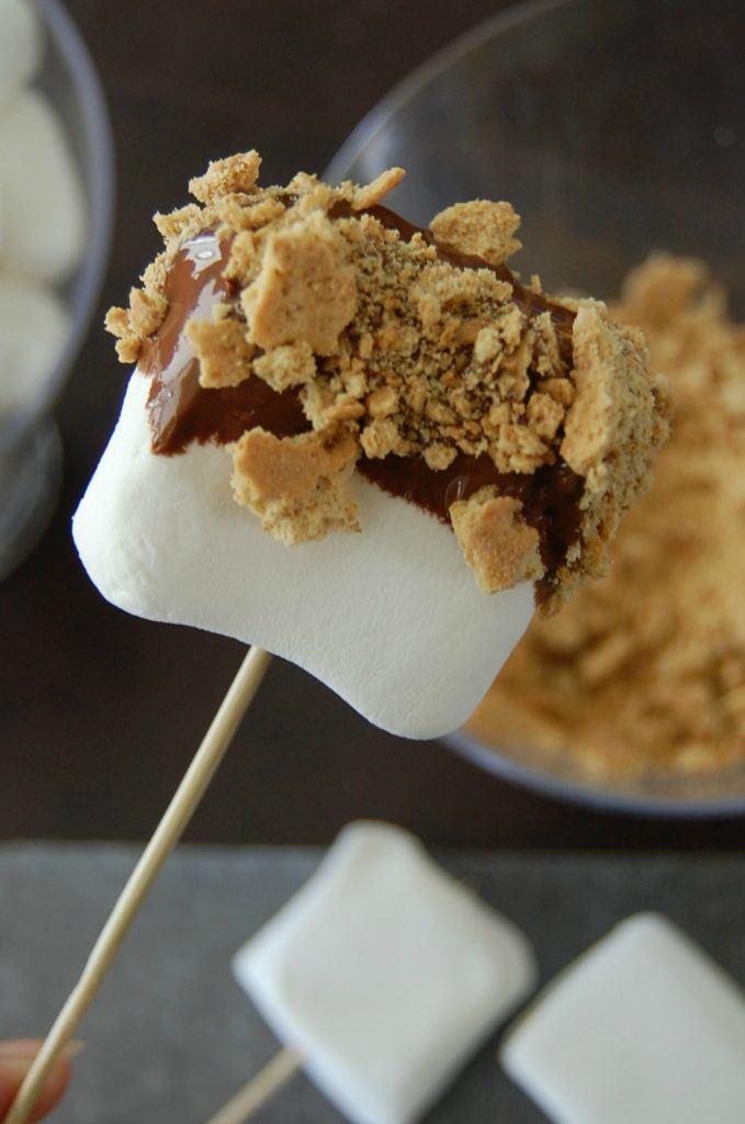 Movie night in the summer calls for some yummy Dipped S'Mores! So yummy, movie night will be so much fun! Make this easy dessert today!