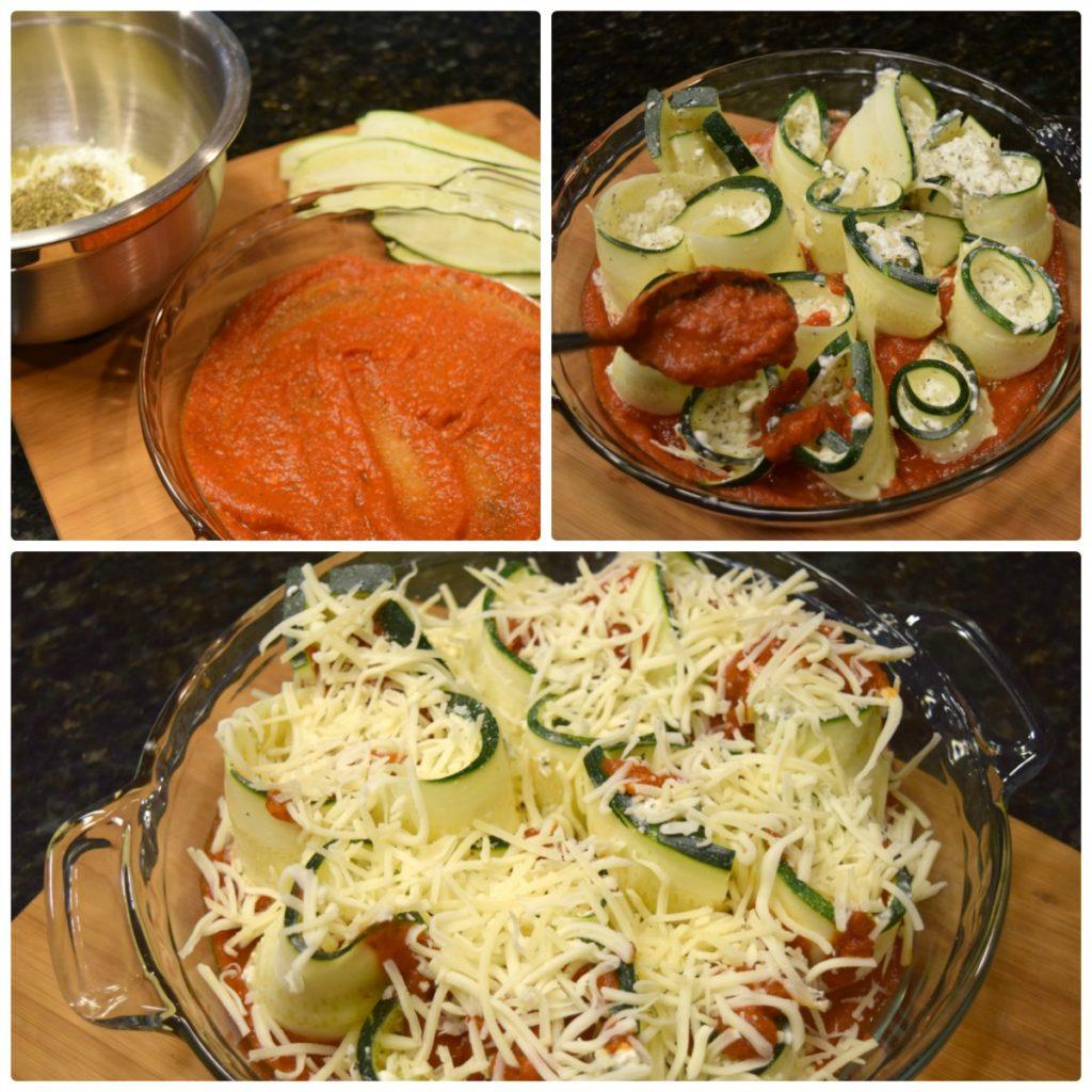 Cheesy Zucchini Roll-Ups are the perfect way to enjoy garden fresh zucchini! Delicious cheeses, marinara & thin strips of zucchini in one tasty dish!