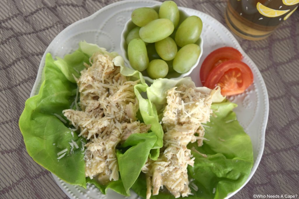 Slow Cooker Shredded Caesar Chicken is so incredibly simple to make. This tender chicken is also the basis for many delicious meal variations.