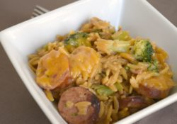 Need a deliciously hearty meal in a flash? One Pan Creamy Orzo & Smoke Sausage fits the bill. Loads of flavor, the entire family will enjoy!