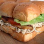 Bacon Caesar Chicken Sliders