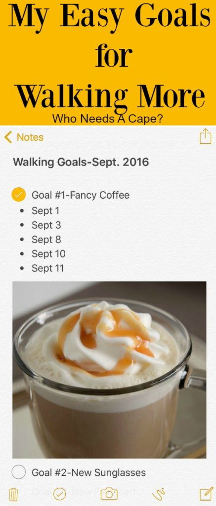 Find out how I'm trying to keep on track with My Easy Goals for Walking More! So simple you can do this too, trust me it isn't that hard!