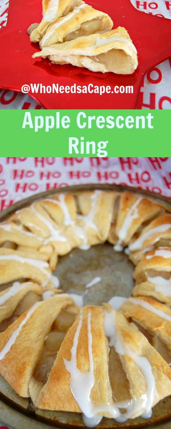 Apple Crescent Ring can be made in minutes, perfect for holidays and weekend brunch. Great for dessert too, you'll love this fruity treat!