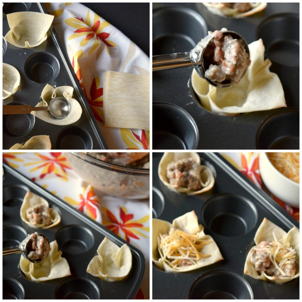 Let the party begin with tasty Spicy Sausage Wonton Cups. Little bites of deliciousness that will liven up your appetizer table.