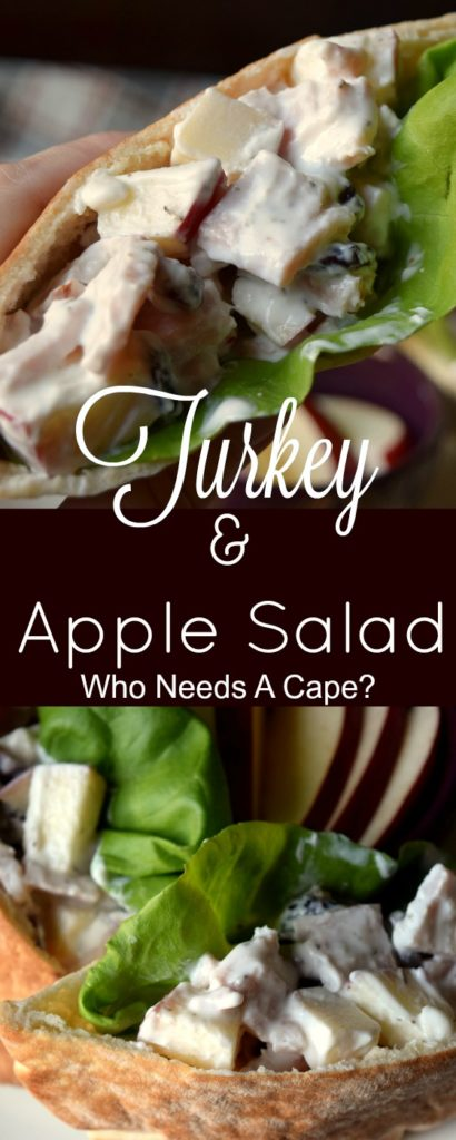 Put the leftover Thanksgiving turkey to good use in this delicious Turkey & Apple Salad. Made with yogurt, it's perfect for lunch and oh so tasty!