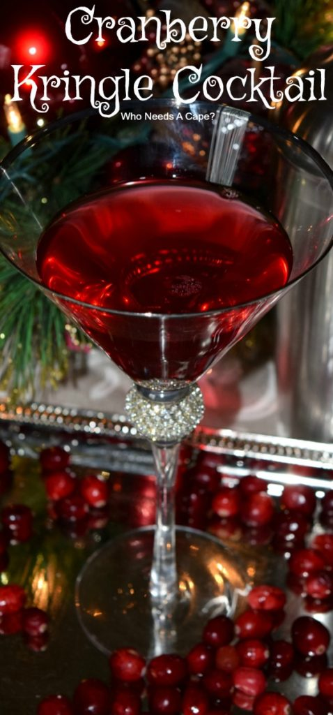 Cranberry Kringle Cocktail will be your new favorite holiday cocktail! Easy to make and full of holiday cheer! Perfect for parties!